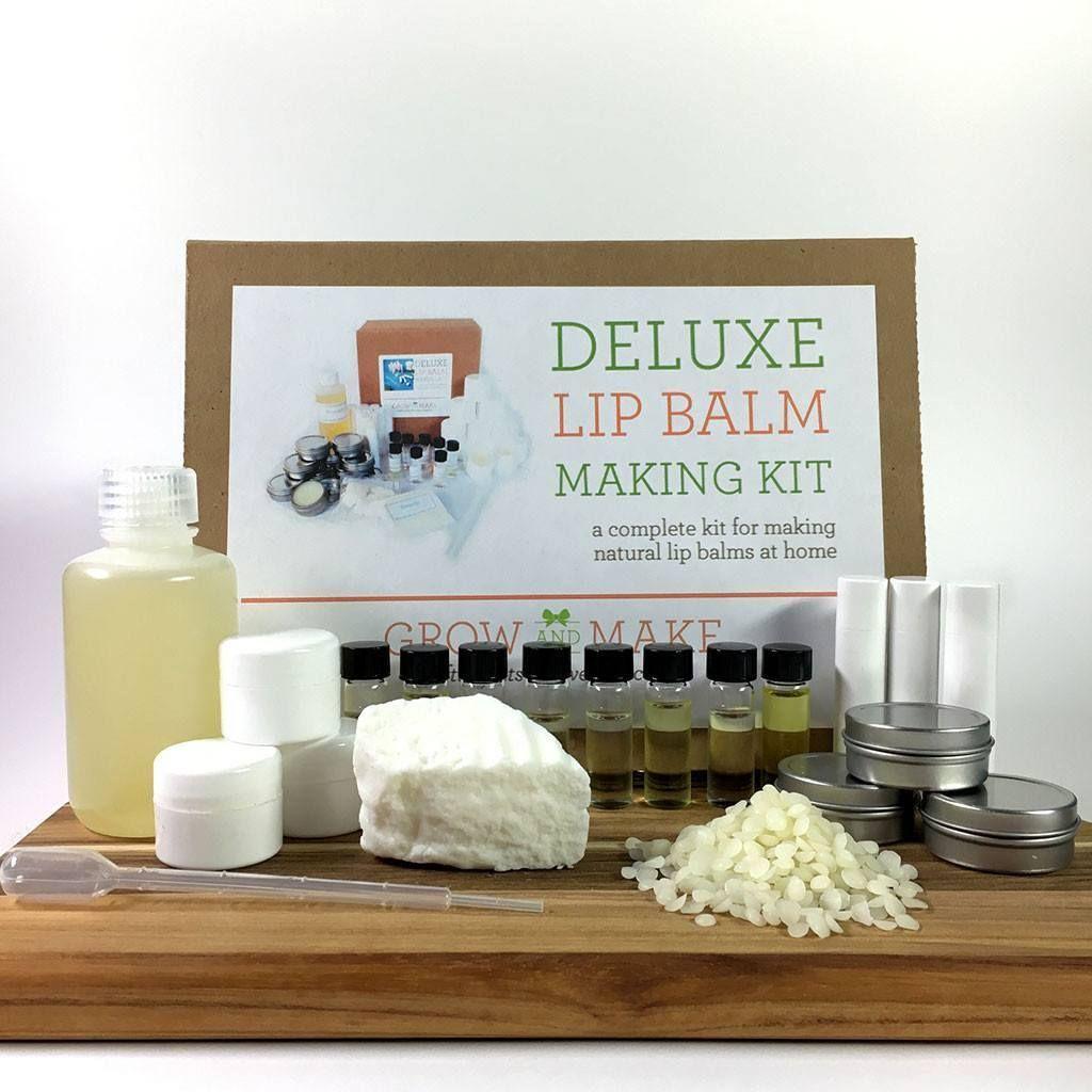 Deluxe DIY Lip Balm Making Kit 36 Tubes, Tubs, & Tins