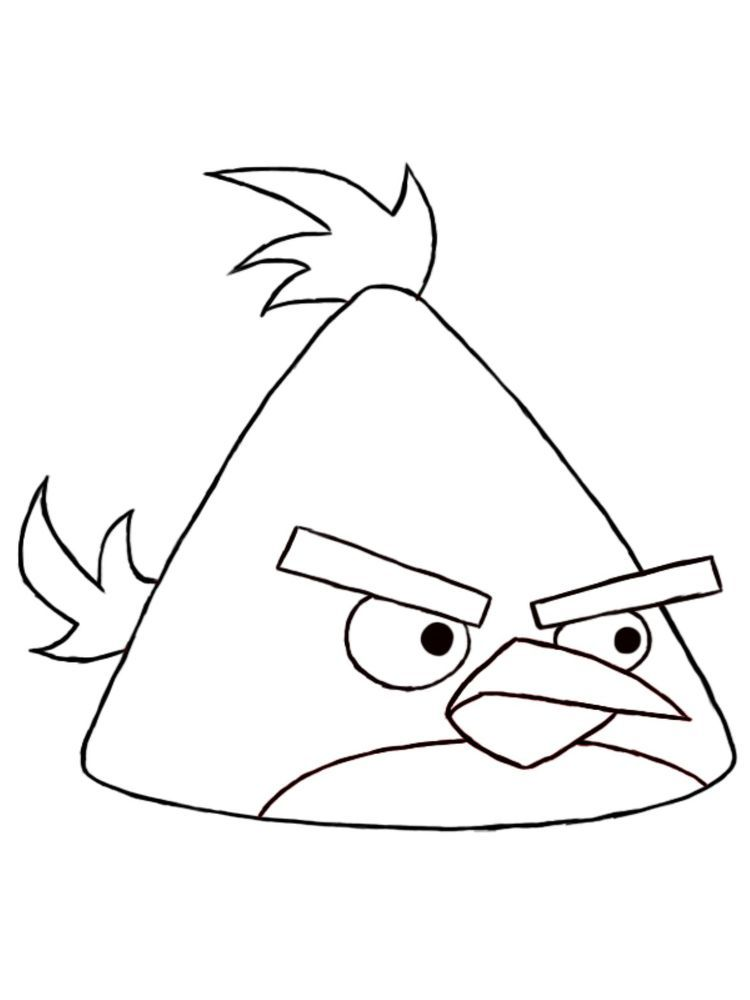 Angry Bird Coloring Pages Pdf Angry Birds Is A Video Game That Was Initially Available For Ipad And Bird Coloring Pages Coloring Pages Cartoon Coloring Pages
