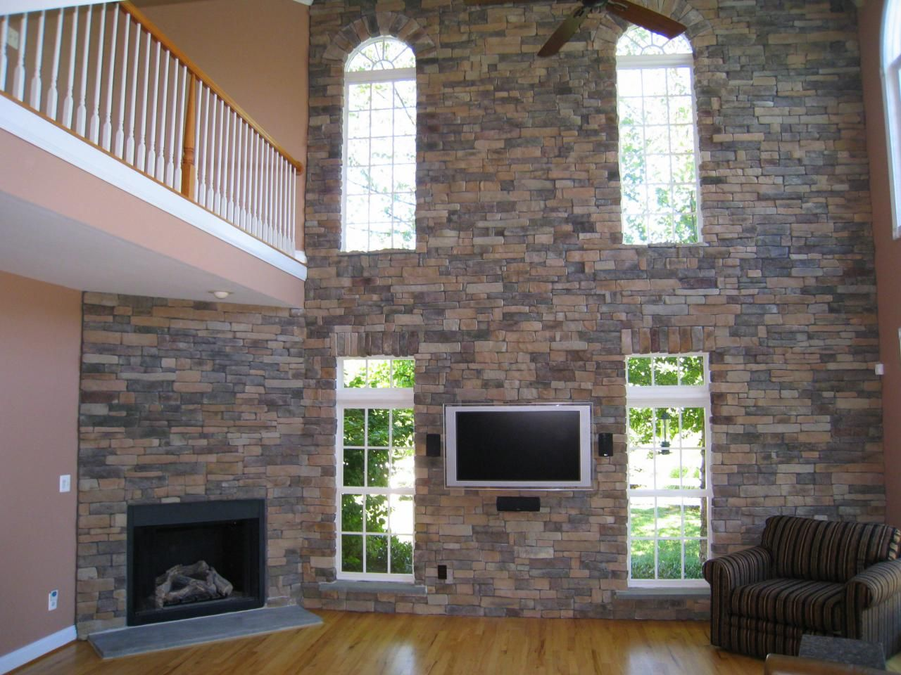 Love Stone Interior Accent Walls So Easy To Do With DIY Faux Ledgestone  Stone Panels.