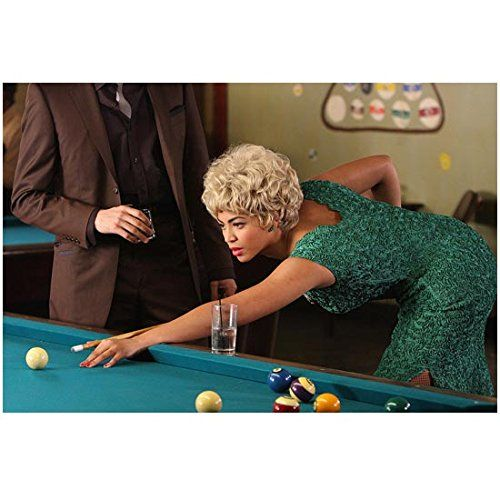 Cadillac Records 8x10 Photo Beyonce Playing Pool in Green Dress kn