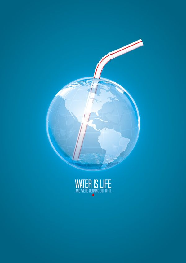 Save Water Poster. Really cool | Design Collection | Pinterest ...