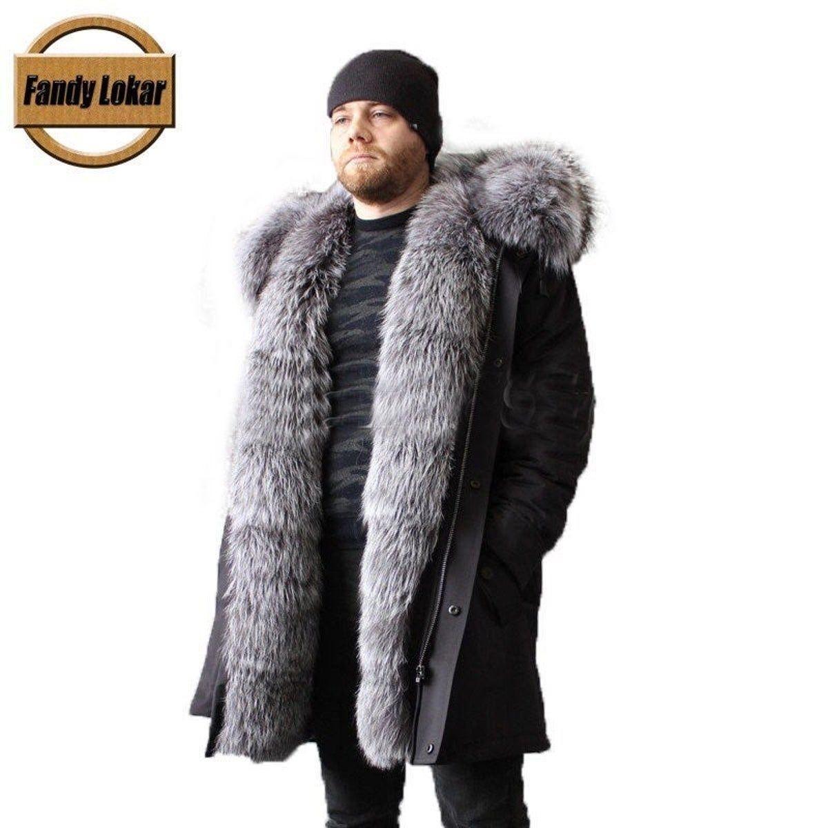 Mens Fur Coat Parka Winter Jacket Mens Fur Coat Fur Hood Parka Fur Hood Coat [ 1200 x 1200 Pixel ]