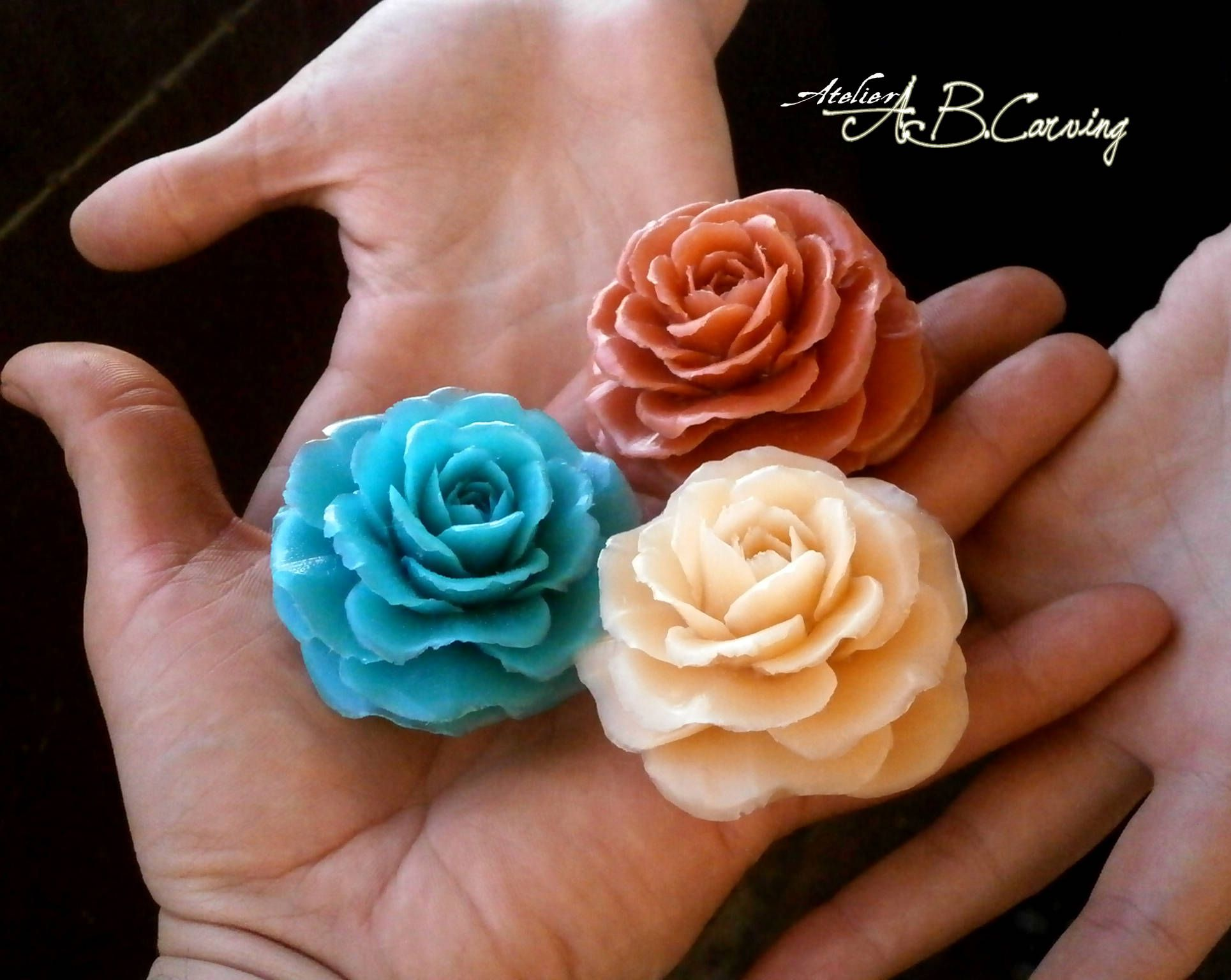 Carving soap roses tiny soap roses guest soap gift rose scented