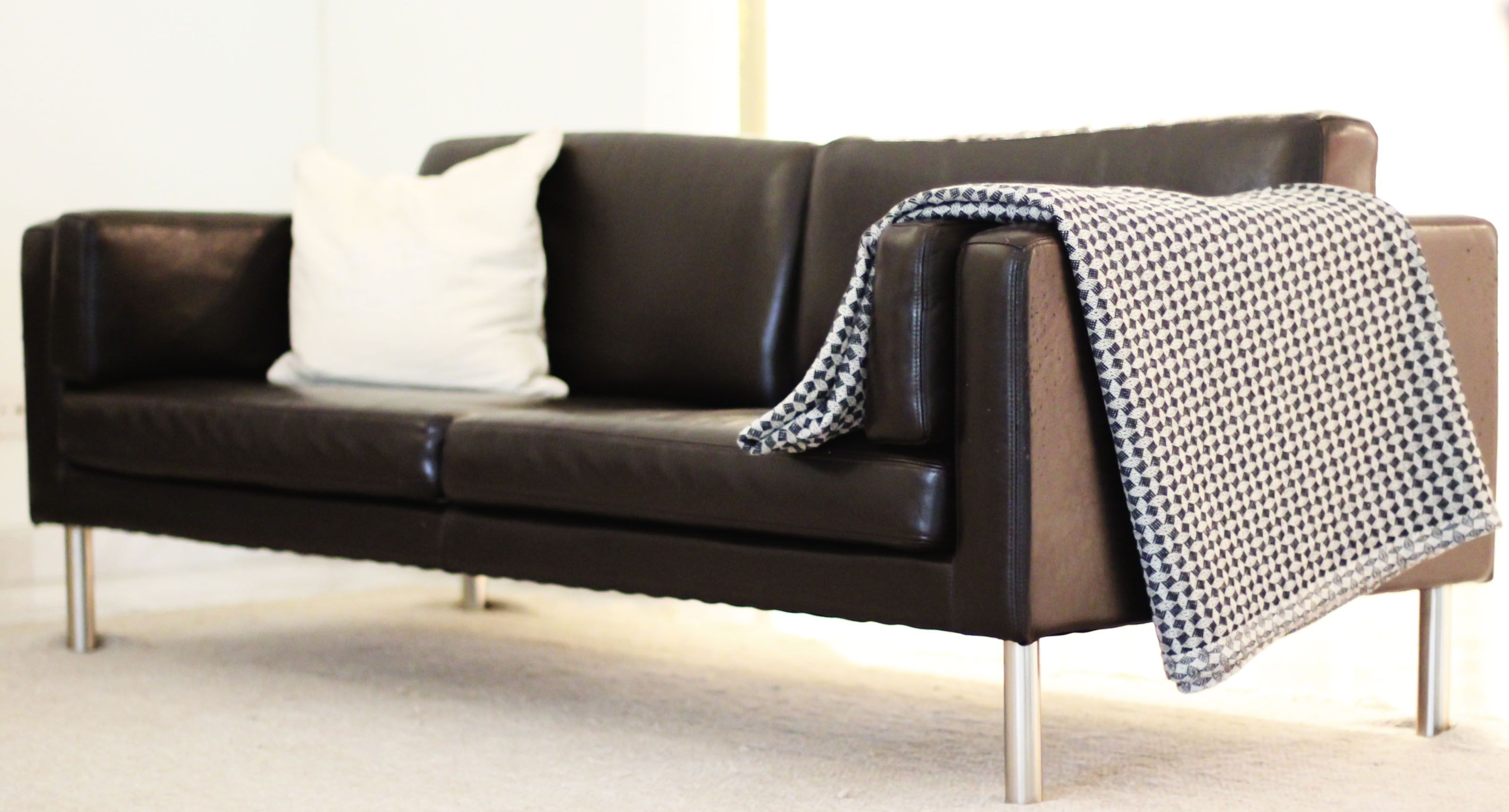 Superieur Leather Sofa   Ikea..for Upstate Weekend House
