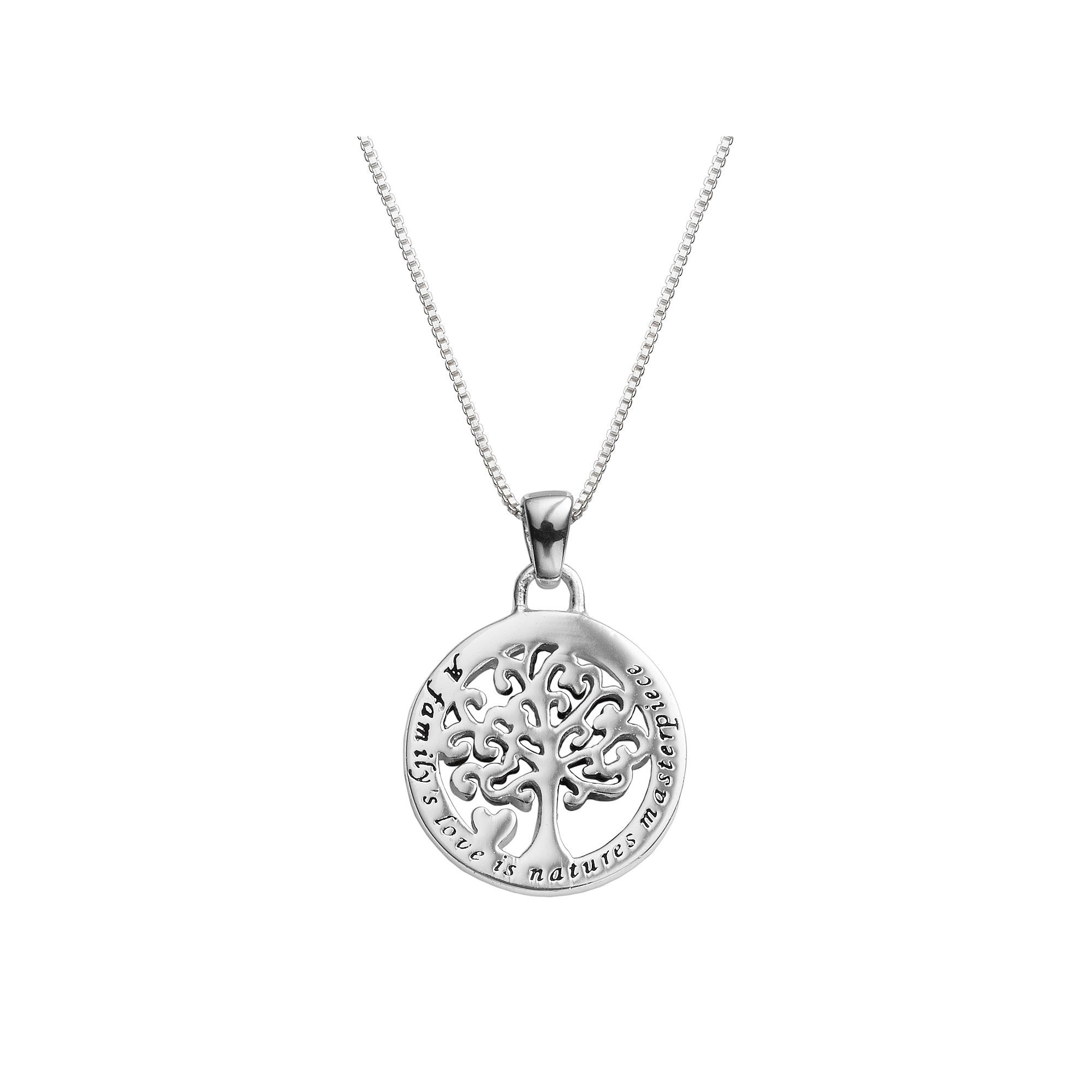 silver mto products gold stone life pendant tree of or family customized platinum