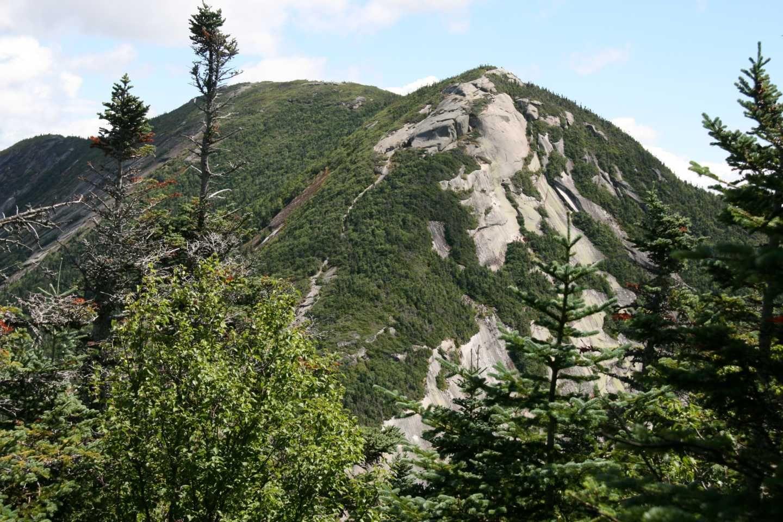 Montée finale, mont Gothics, Adirondacks, New-York, août 2016