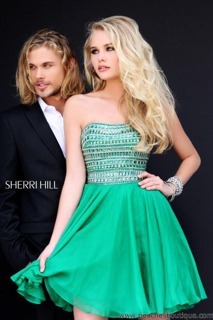 Sherri Hill Short Dress 11028 at Peaches Boutique