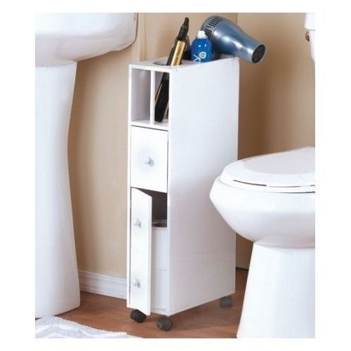 Merveilleux Space Saving Bathroom Organizer Features Multiple Storage Areas, Including  A Convenient Appliance Holder At The Top. Tall And Thin, It Maximizes  Limited ...