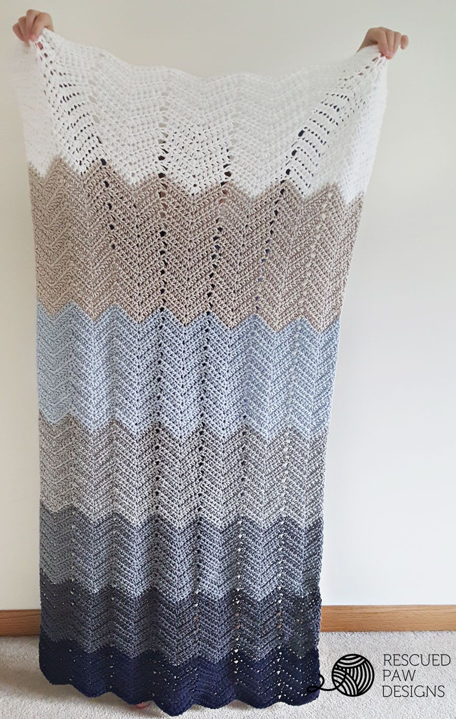 Crochet Ripple Blanket Patttern Crochet Ripple Blanket