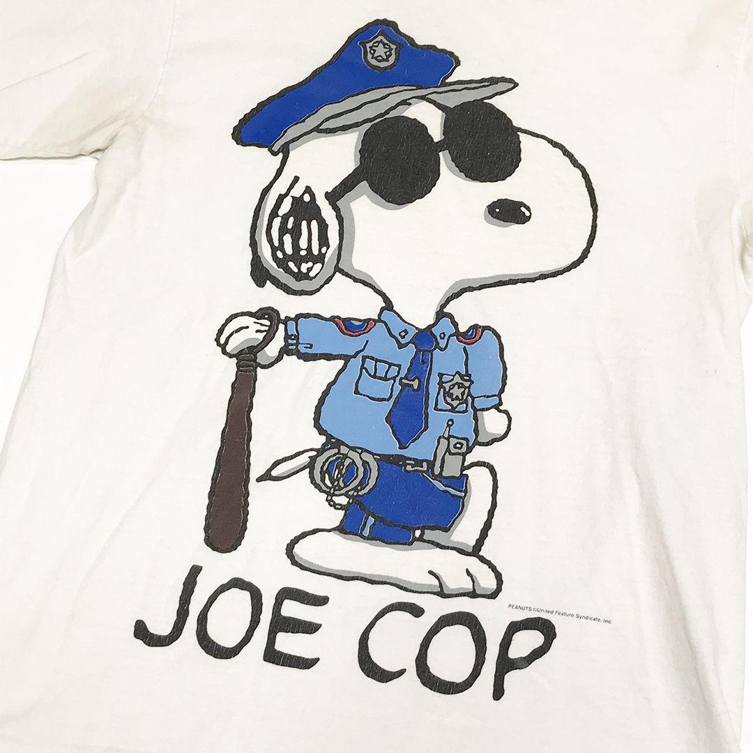 67049a56 Vintage Peanuts JOE COP charles Schultz cartoon comic Snoopy police tee  shirt single stitch