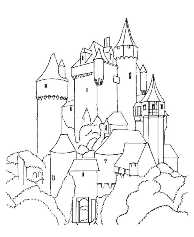 Castles 00 Castles Coloring Pages For Teens And Adults Castle Coloring Page Coloring Pages Colouring Pages