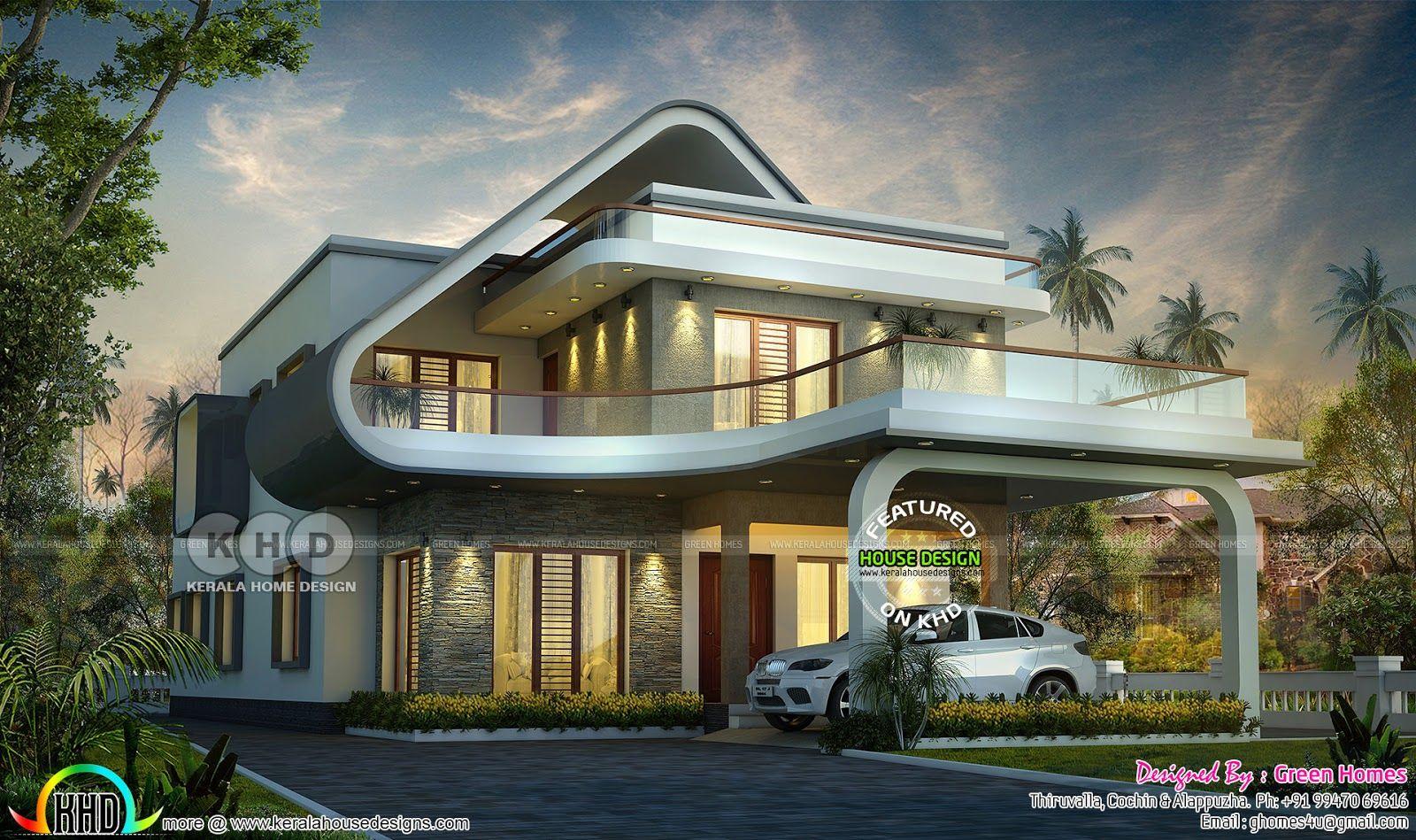Unique And Stylish Flowing Design Home Unique House Plans