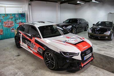 Auto Audi Rs6 Avant Fahrzeugfolierung Fahrzeugbeschriftung