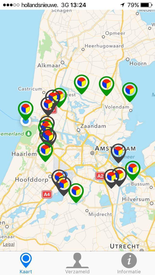 """Woensdag Fortendag! Alle forten met een groene pointer zijn nu open! #StellingvanAmsterdam #Stampions #app"""""""