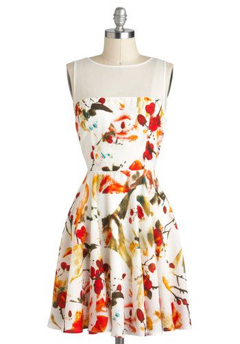 Scatter in the Breeze Dress, #ModCloth    I want to have rocking and toned arms so I can wear sleeveless tops and dresses with no fear! This is a great one.
