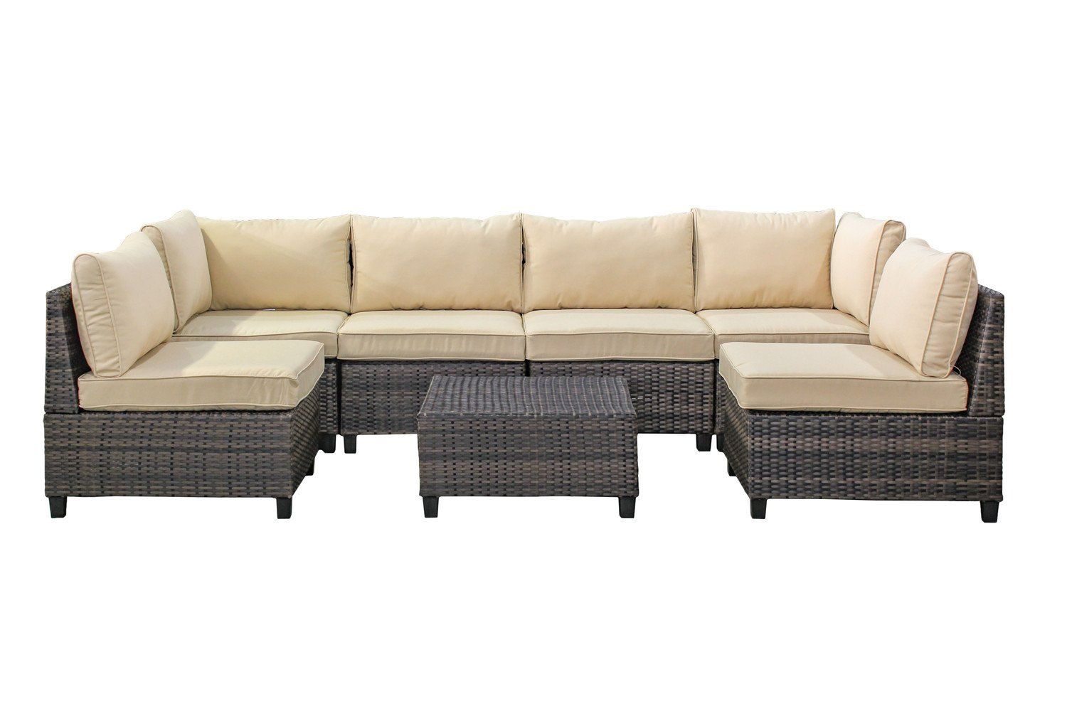 Tampa 7 Piece Outdoor Rattan Wicker Sofa Sectional Sets Perfect