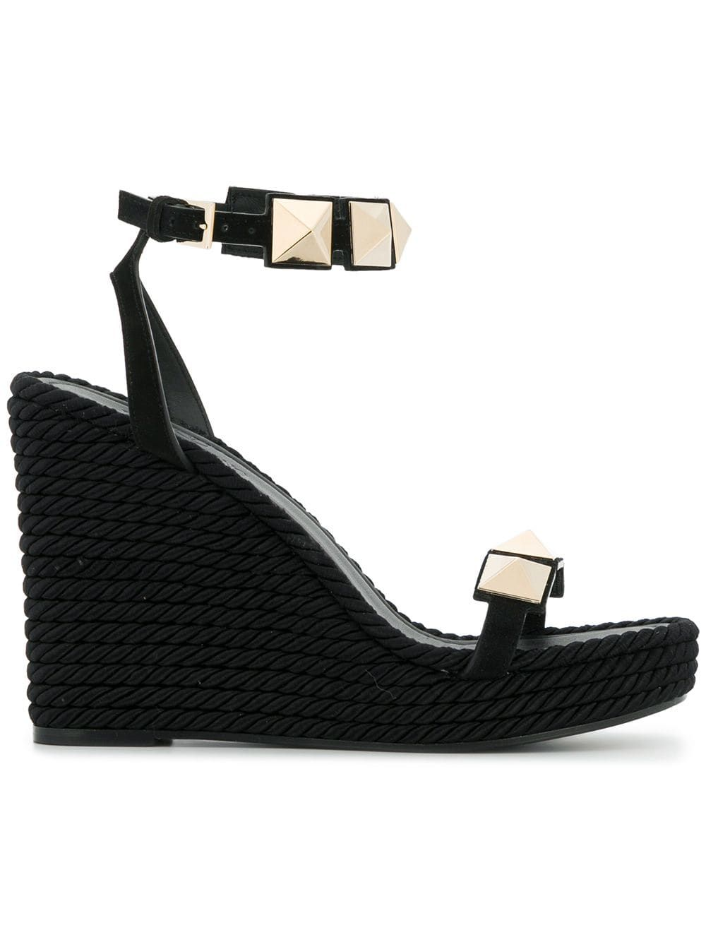 6c250640510 Valentino wedge stud sandals - Black | Products in 2019 | Valentino ...