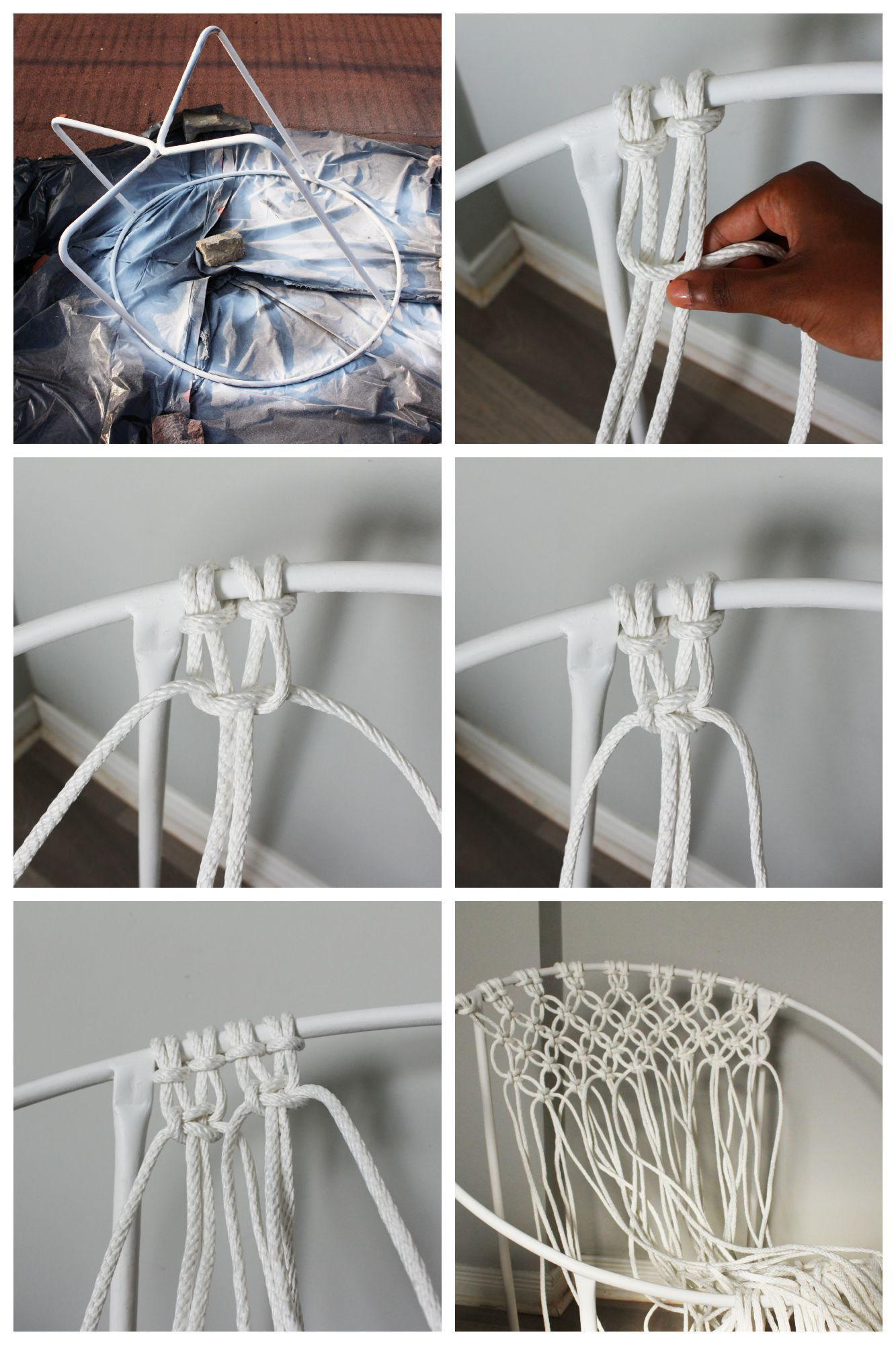 diy macrame hammock chair h ngematte abseilen und kn pfen. Black Bedroom Furniture Sets. Home Design Ideas