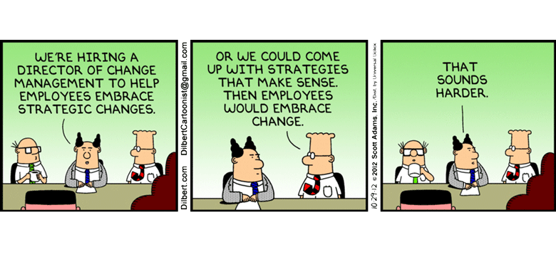 Image result for cartoon about change management Human