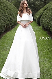 S68287 Off White Silk Wedding Gown