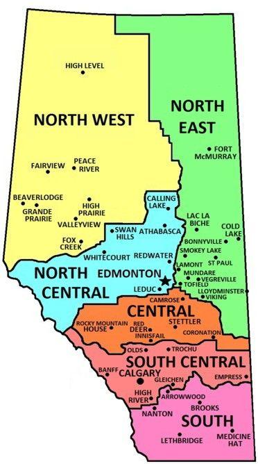 High River Alberta Canada Map.Alberta Zone Map Alberta Pinterest