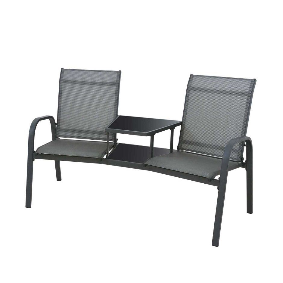 Marvelous Weybridge Grey Metal Garden Furniture Duo Seat In 2019 Theyellowbook Wood Chair Design Ideas Theyellowbookinfo