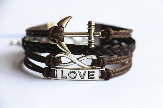 Bracelet / Infinity Bracelet Anchor Bracelet / by Especially2U, $6.99