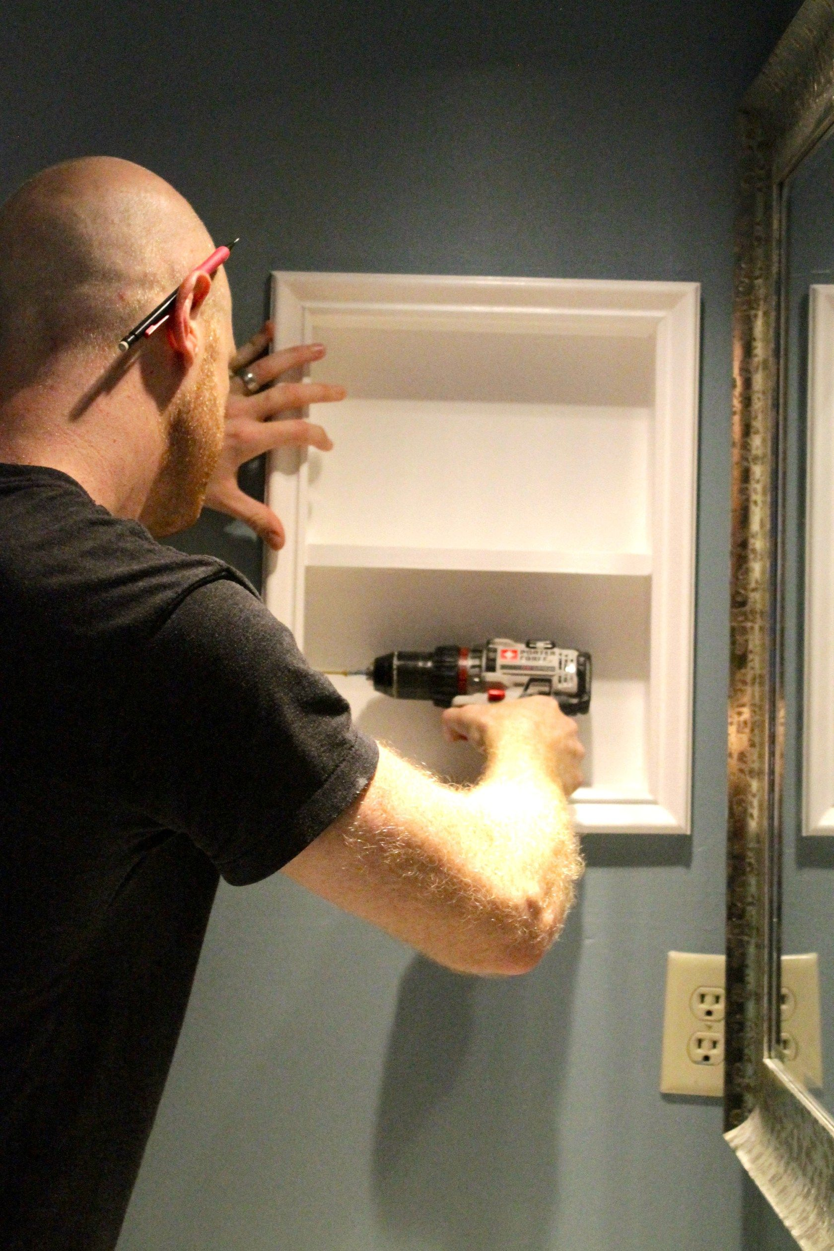 How To Turn Old Medicine Cabinet Into Open Shelving Charleston Crafted