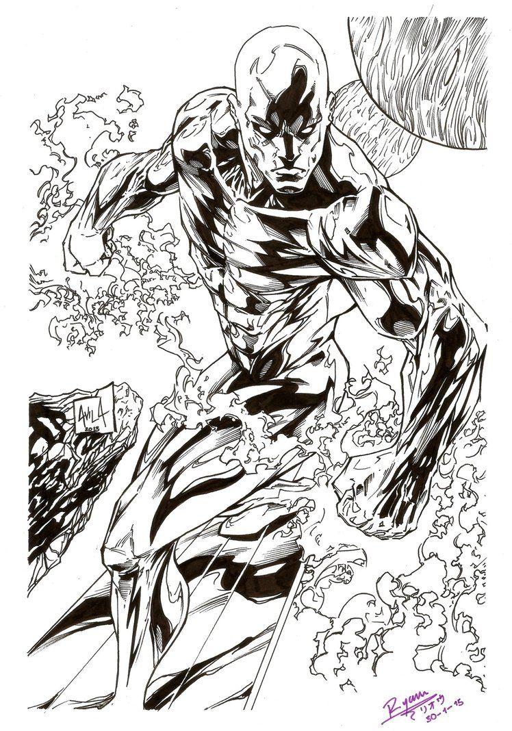 Silver Surfer By Ryoukugaink Silver Surfer Marvel Comics Wallpaper Surfer