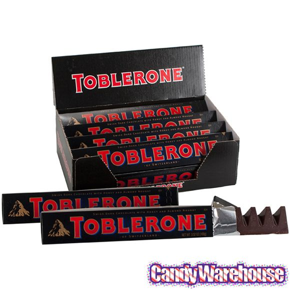 Toblerone Dark Chocolate Bars 20 Piece Box By Toblerone