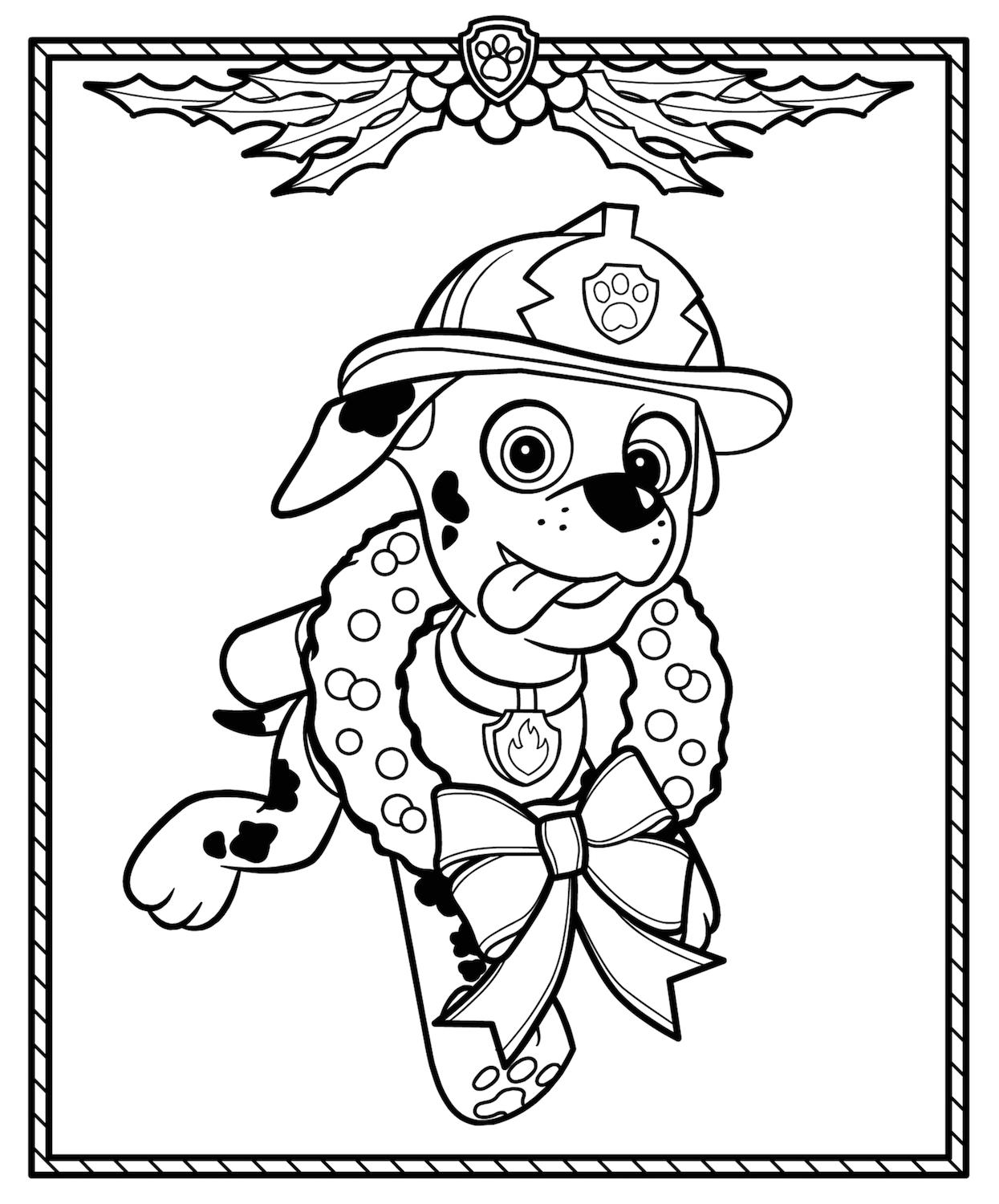 Christmas Coloring Pages Paw Patrol Coloring Paw Patrol Christmas Free Christmas Coloring Pages