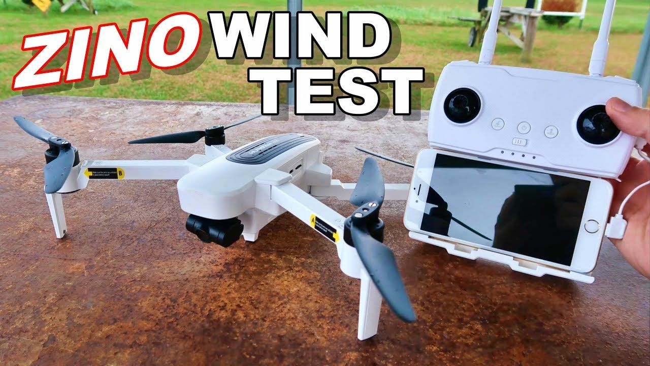 Hubsan Zino Wind Test & Flight Time Awesome 4K 3 Axis GPS