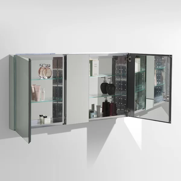 50 X 26 Recessed Or Surface Mount Frameless Medicine Cabinet