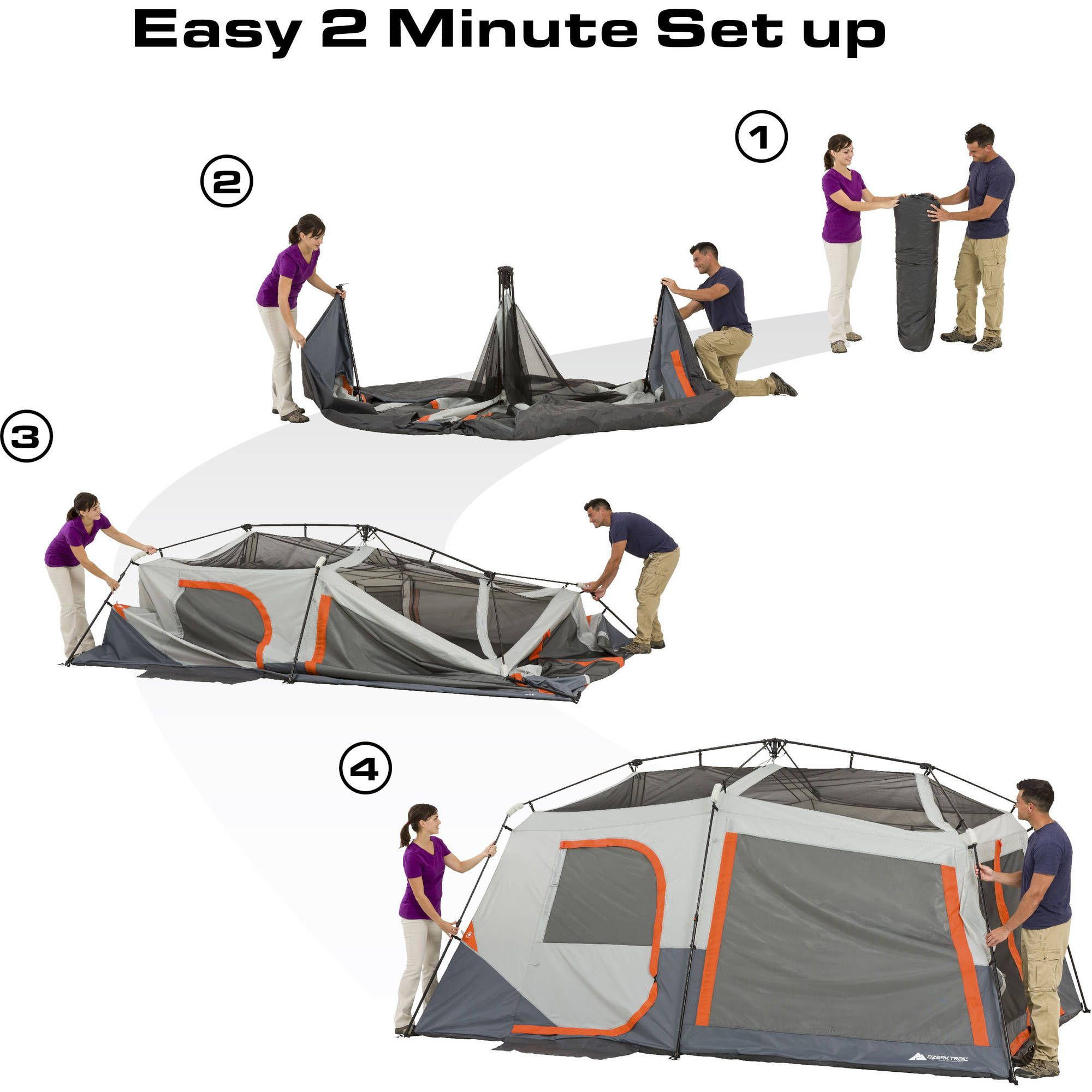 Ozark Trail 10 Person Cabin Tents Walmart Com Cabin Tent Tent Ozark Trail