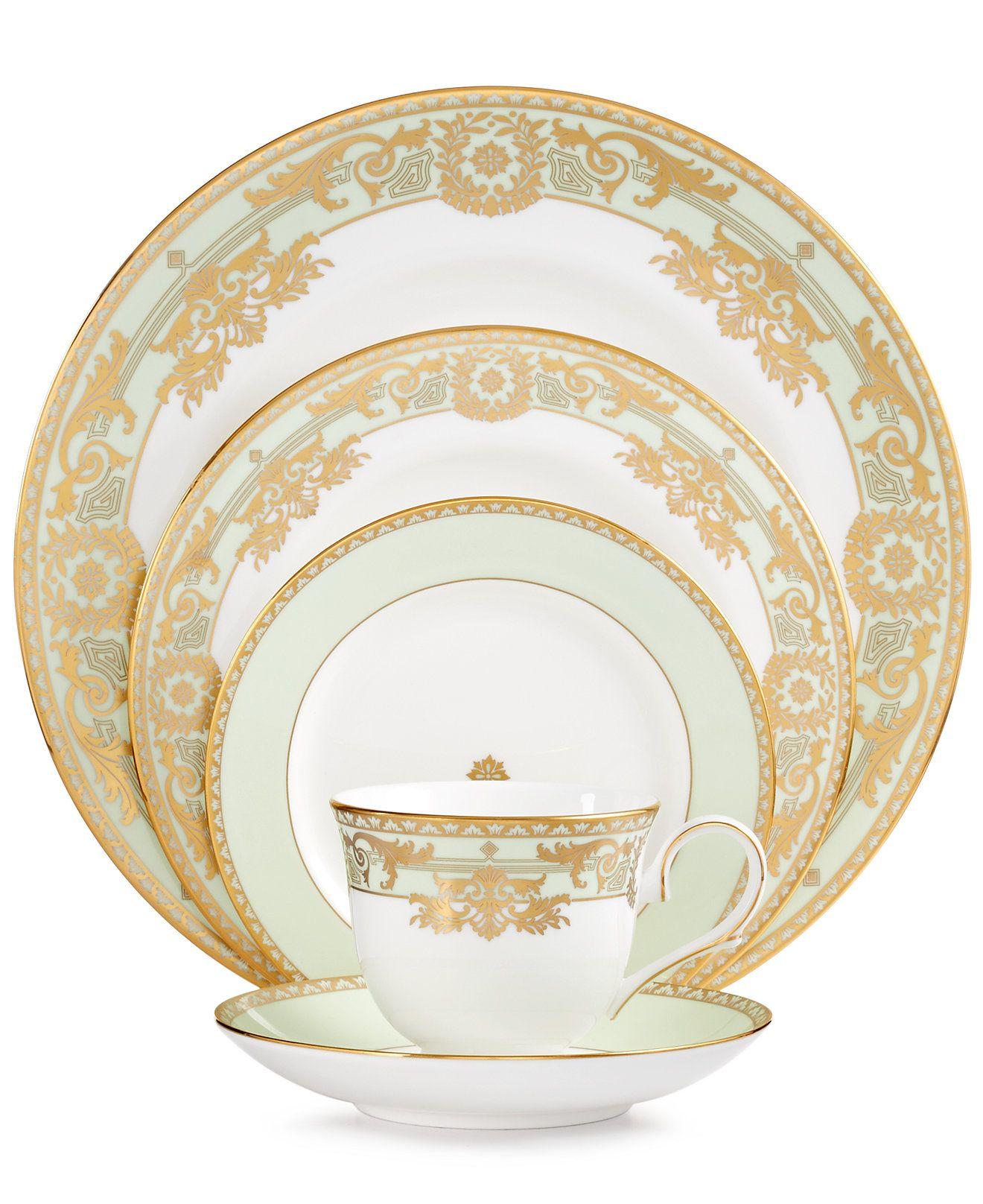 Marchesa By Lenox Rococo Leaf 5 Piece Place Setting
