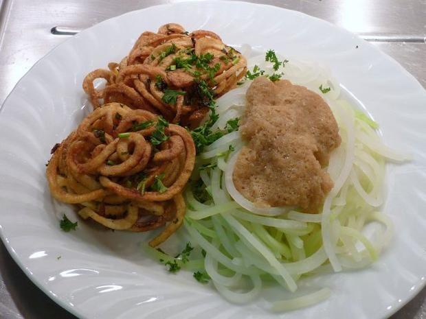 Rezept: Kohlrabi - Spaghetti an Kartoffelnestern -