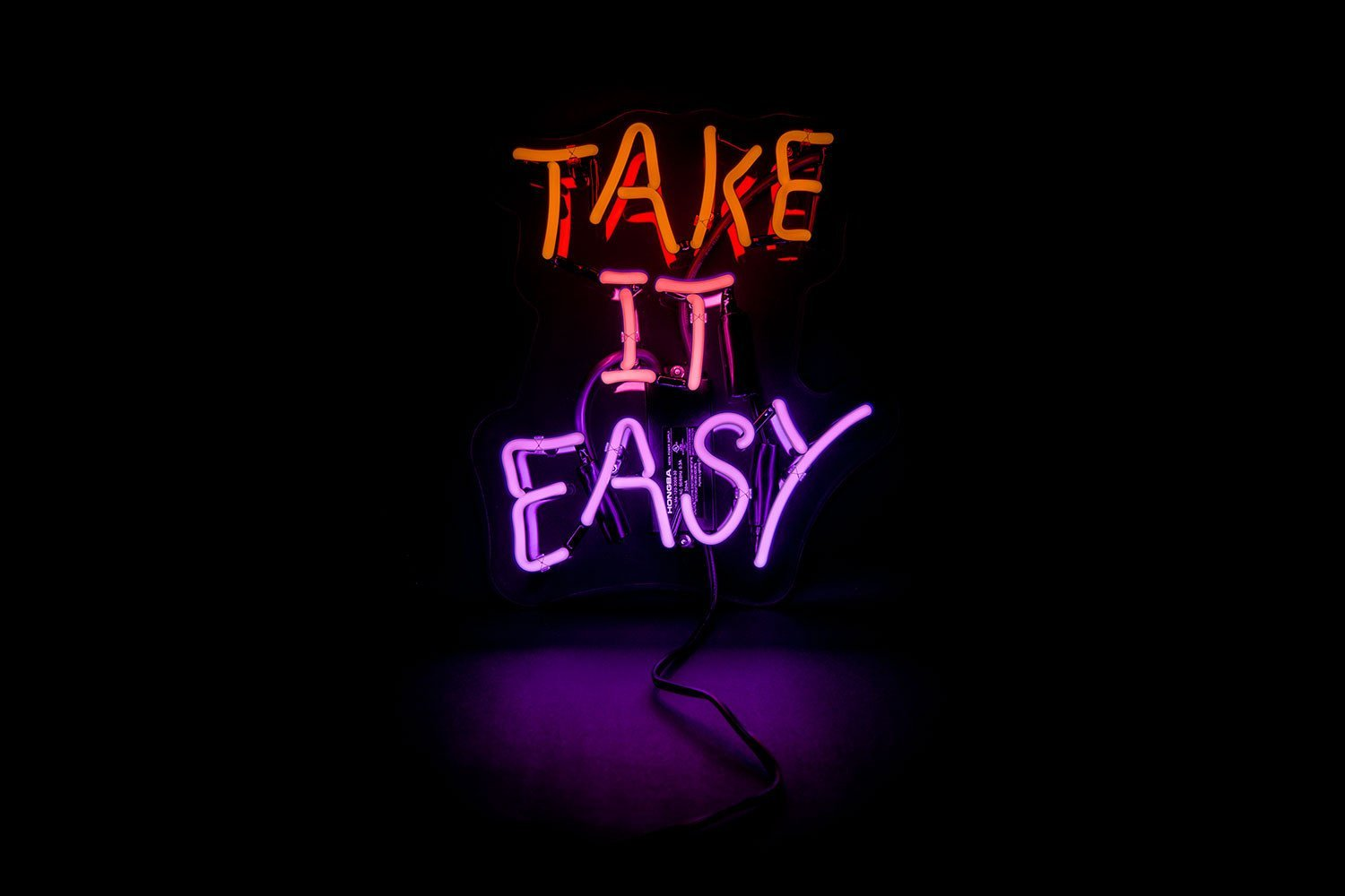 Take It Easy Led Neon Sign Custom Neon Signs Neon Signs Neon Signs Quotes