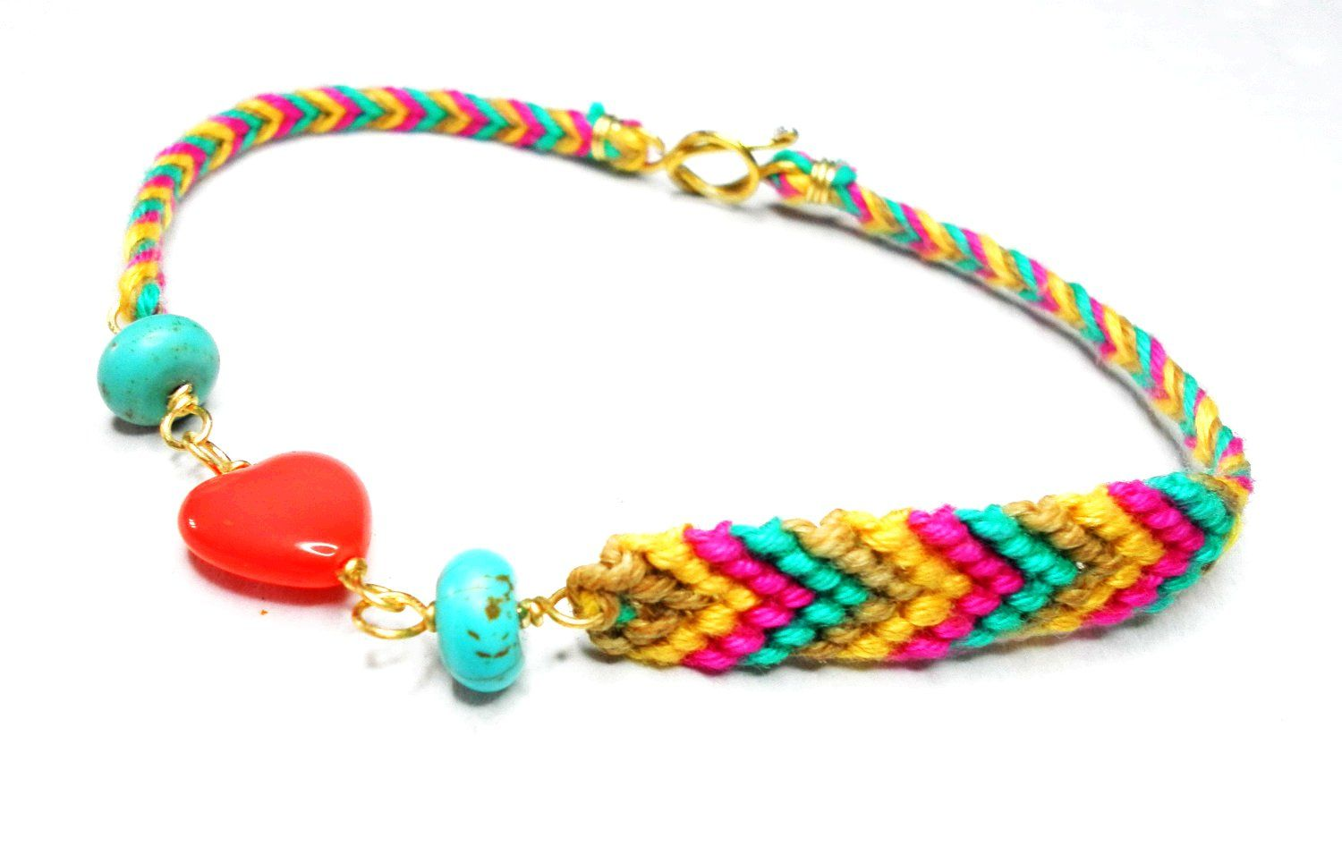 braided wrist ebay hippieyle ankle x thread friendship itm bracelets colorful bands