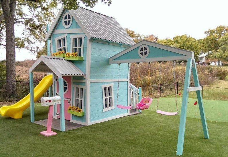 Modern and minimalist luxury outdoor playhouse ideas (34 ...