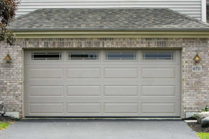 Beautiful Haas 2470 Raised Ranch Panel With Pairie Window Inserts Garage Doors Garage Door Panels Door Installation