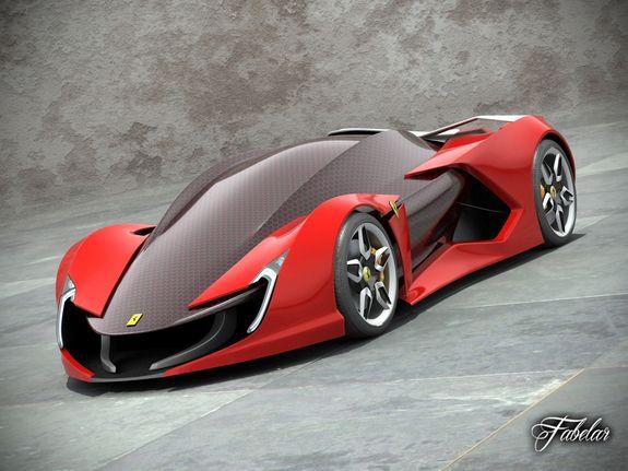 Ferrari Impronta Concept 3d Model Super Cars Concept Cars Dream Cars