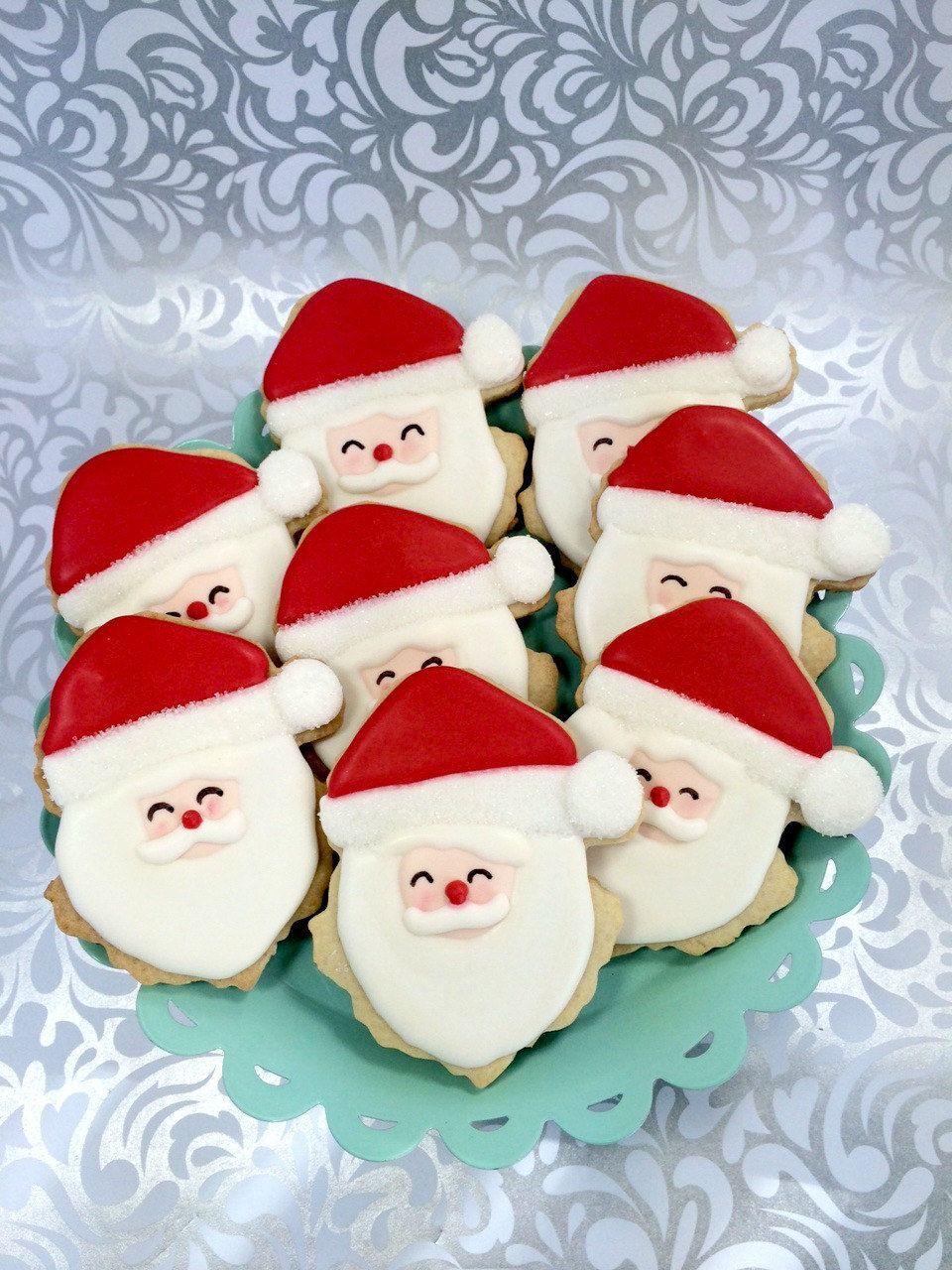 Retro Santa Claus Sugar Cookies by PSSweet on Etsy