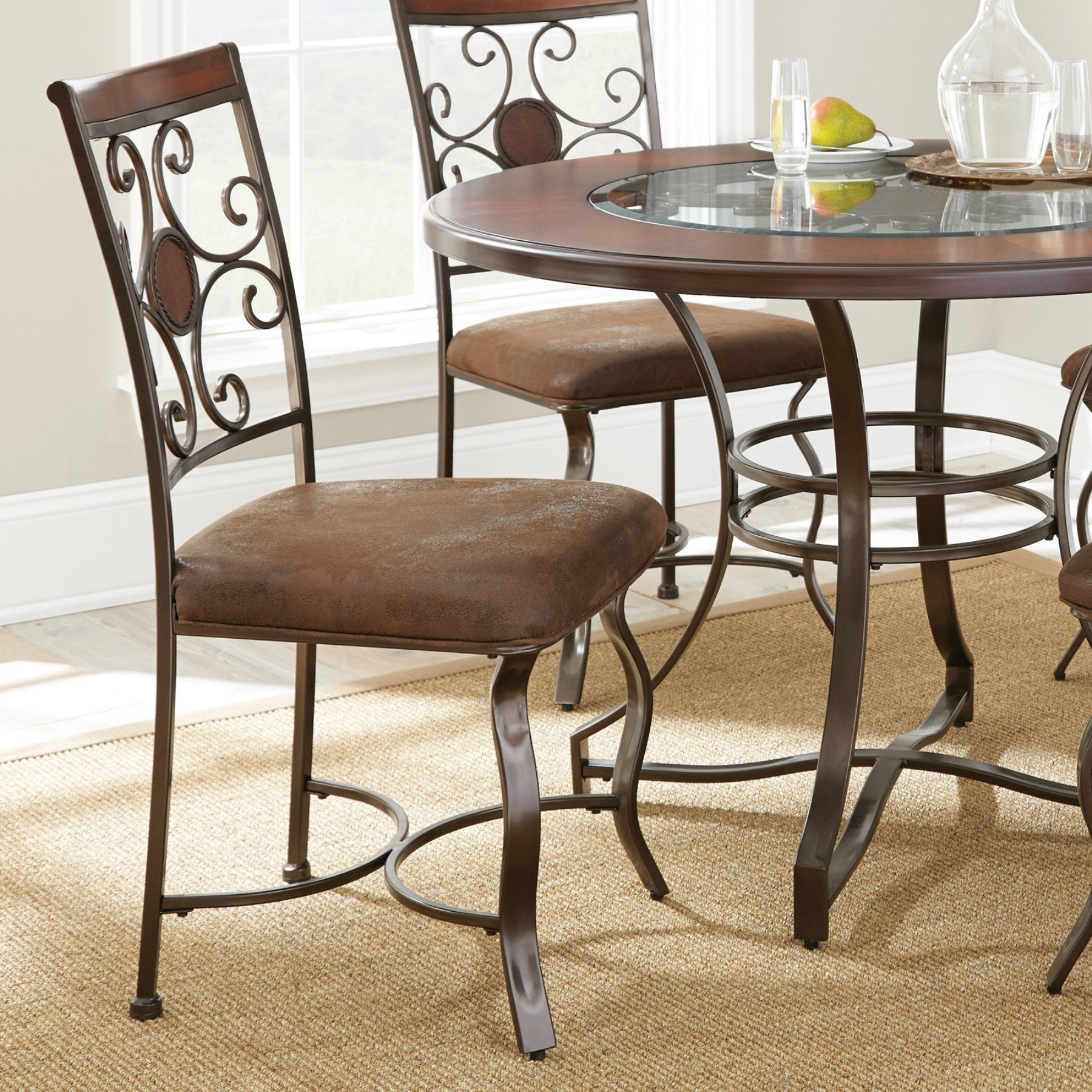 Steve silver toledo side dining chair set of rich brown