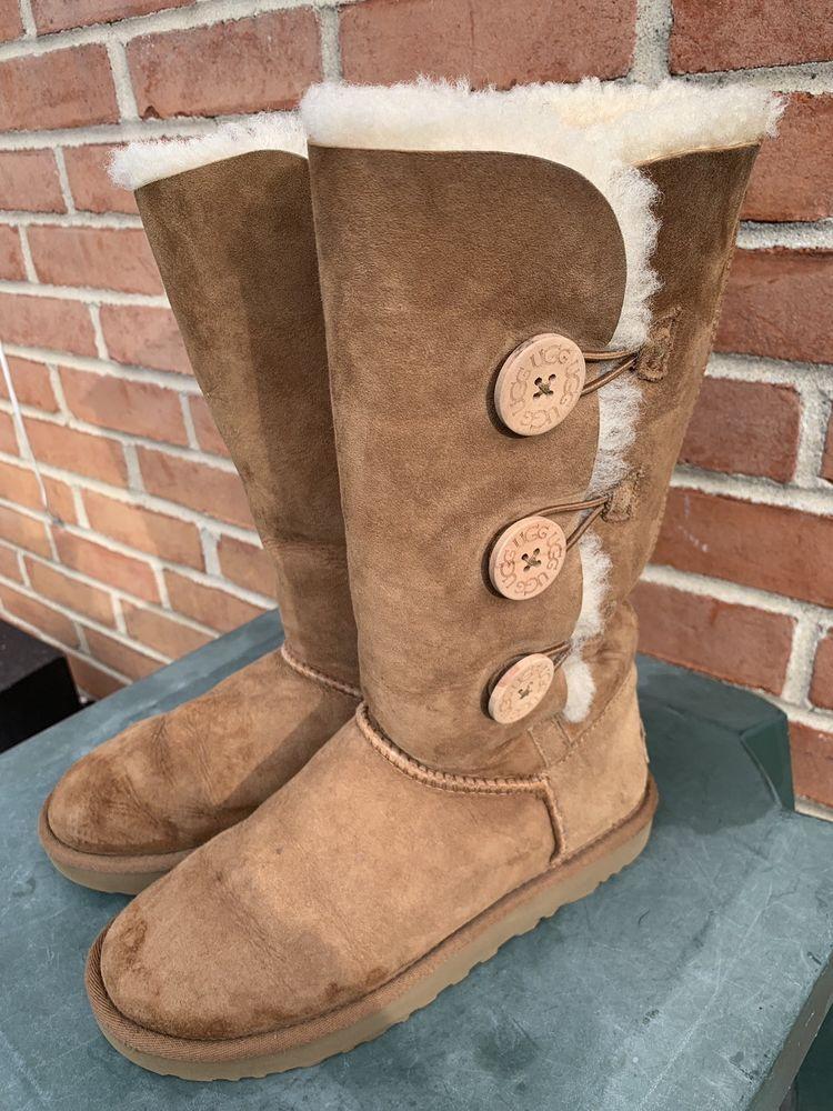 2219c695742 UGG Australia Bailey Button Triplet II Sheepskin Women Boots Women ...