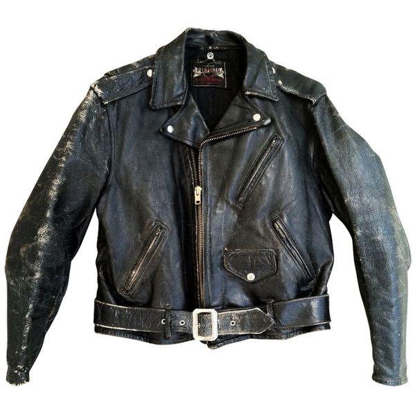 Perfecto 1950s Leather Jacket Vintage Biker Jacket Real Leather Jacket