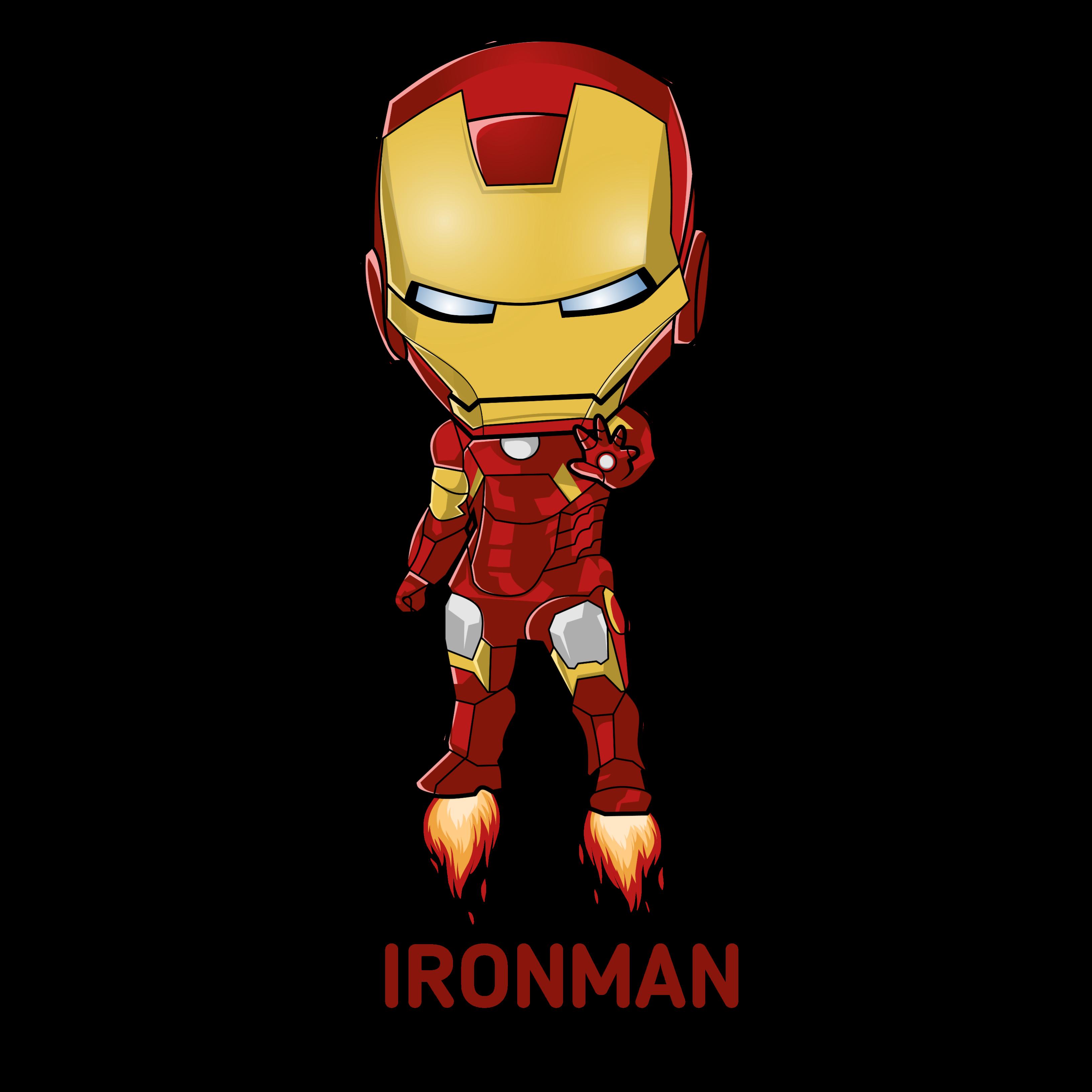 Vector Cartoon Art Of Iron Man