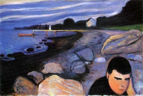 Edvard Munch  1892-93mélancolie (jappe sur la plage)