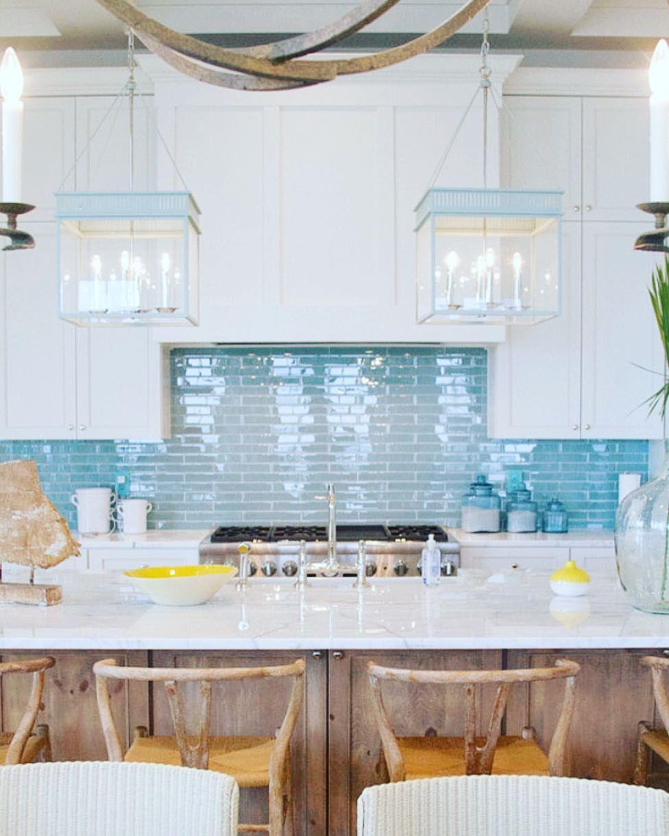 Coastal kitchen done just right via houseofturquoise kerenbrowninteriors timelessinteriors classicinteriors interiors decorating  also rh pinterest