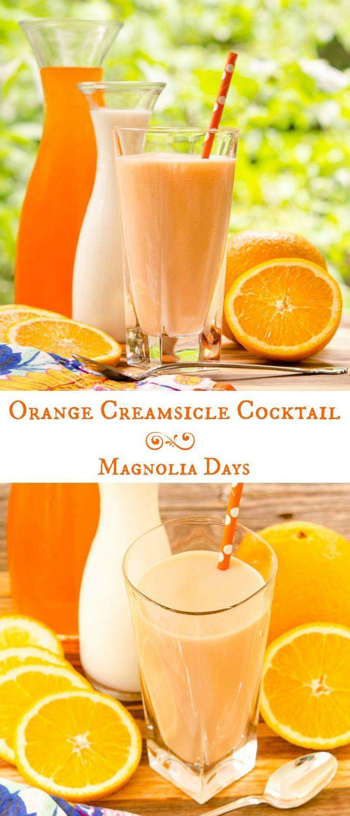 Orange Creamsicle Cocktail Recipe Creamsicle Drink