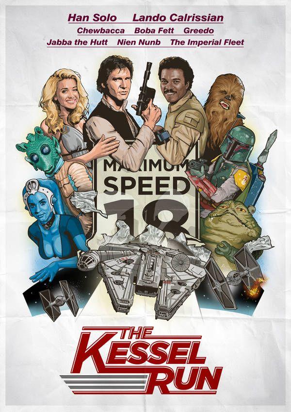 Kessel Run movie poster - I'd watch this!